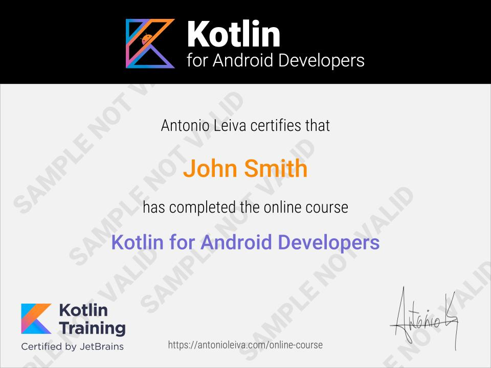 Kotlin for Android Developers - The online video course
